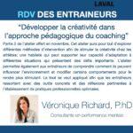 Conférence virtuelle - Développer la créativité dans l'approche pédagogique du coaching - Véronique Richard
